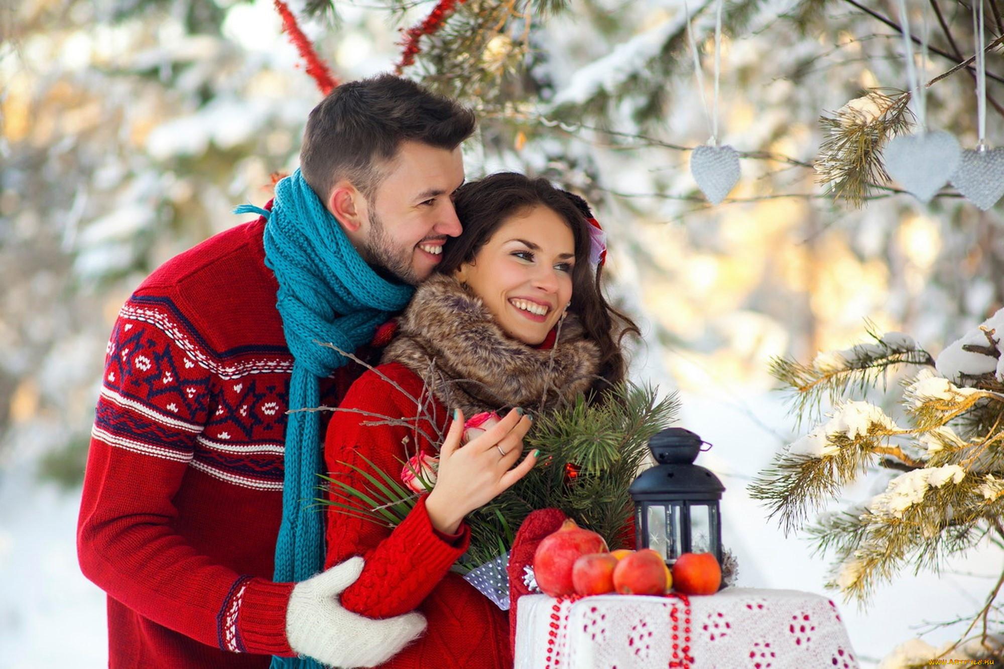 Картинки вдвоем любовь зима